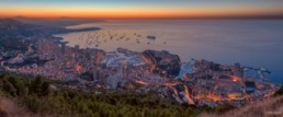 Panorama Monaco by night