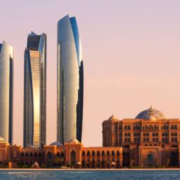 Abu Dhabi- Etihad Towers and Emirates Palace