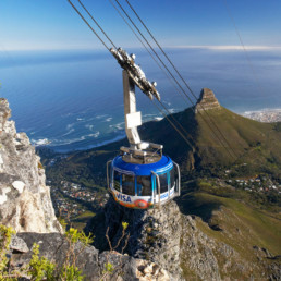 Africa- uploads Avatars Cable Car with Lions Head in background