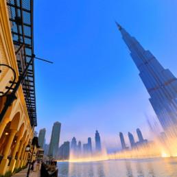 Dubai-Burj Khalifa latern Souk al bahar