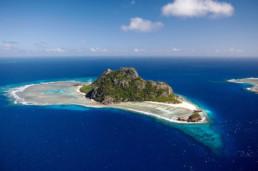 Fiji- Aerial of Monuriki Island, Mamanuca