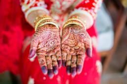 India- Hands with Henna