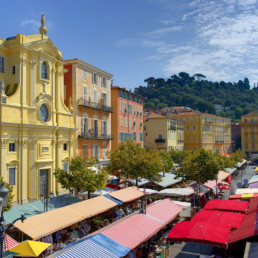 Monaco- Flower market in Nice