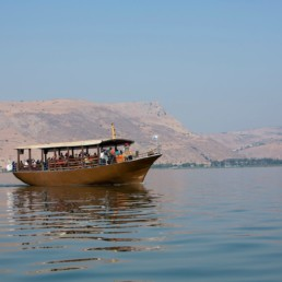 Israel - PILGRIM'S BOAT ON THE SEA OF GALILEE