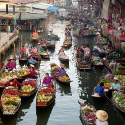Thailand Damnern Saduak Floating Market